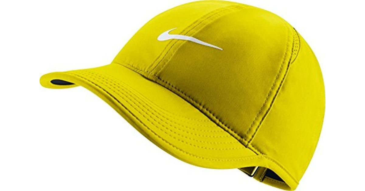 9aa3351c ... closeout lyst nike court aerobill featherlight tennis cap in yellow for  men c261c 8fa9c