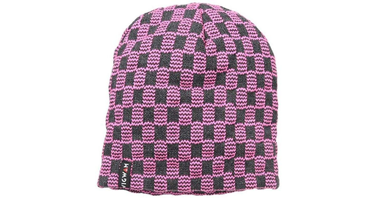 95cf155bb6c Lyst - Wigwam Electric Check Hat in Pink for Men