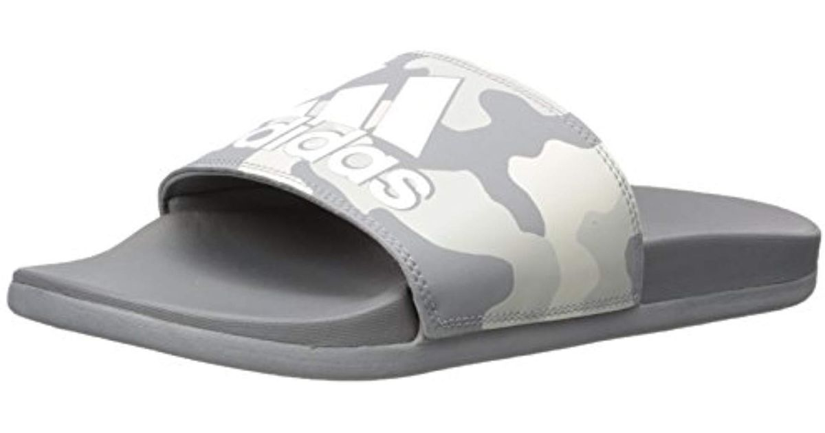 huge discount 5c956 e24de Lyst - adidas Performance Adilette Cf+ Link Gr Slide Sandal, Grey Three  Fabric, Ftwr White, Grey Two Fabric, 16 M Us in Gray for Men
