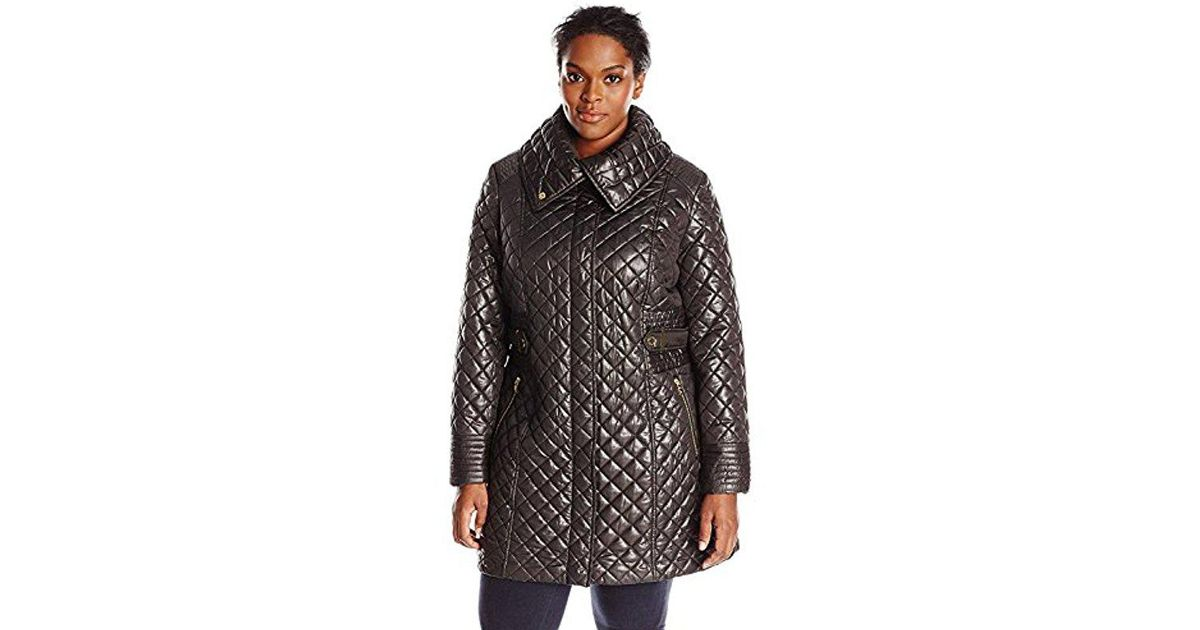 c0e9f32e1a0 Lyst - Via Spiga Plus-size Lightweight Quilted Jacket With Side Tabs in  Black - Save 23%