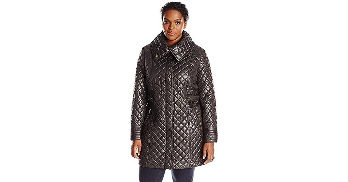 6f54f27f1fd Lyst - Via Spiga Plus-size Lightweight Quilted Jacket With Side Tabs in  Black - Save 23%