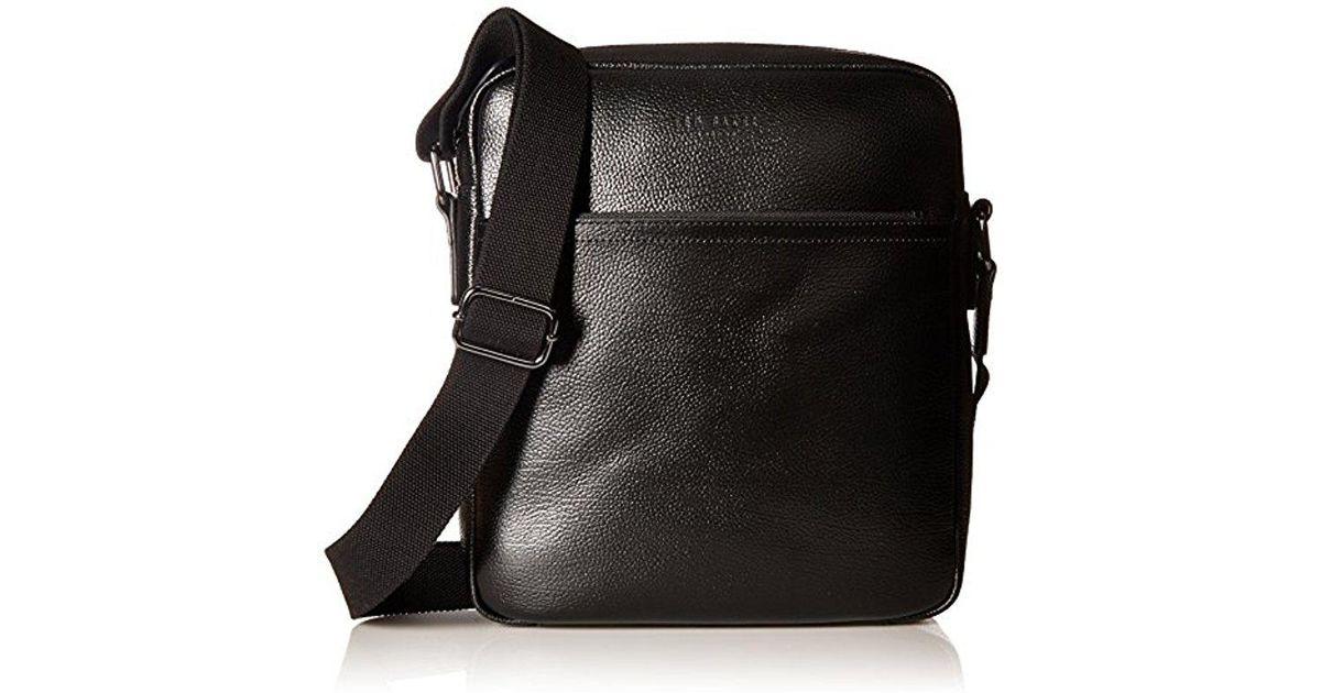 0f2cde9e9d334a Lyst - Ted Baker Flycor Leather Flight Bag in Black for Men