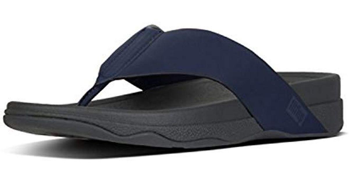 b751f2ee686 Lyst - Fitflop Surfer Toe Post In Neoprene Flip-flop in Blue for Men