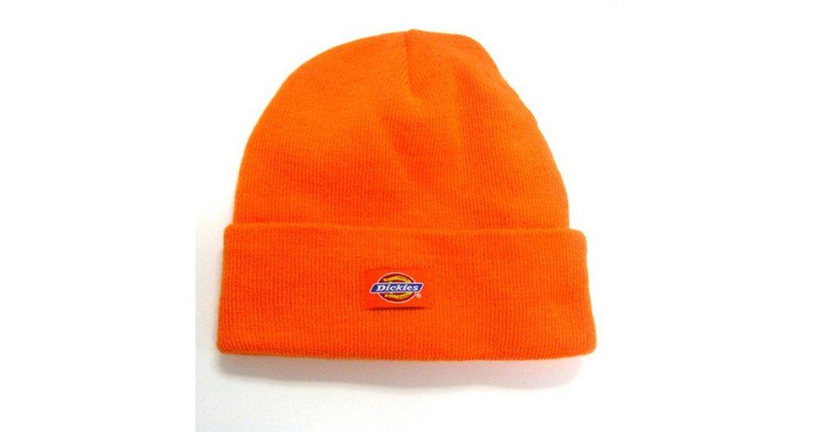 2ca84d3e95c Lyst - Dickies 14 Inch Cuffed Knit Beanie Hat in Orange for Men