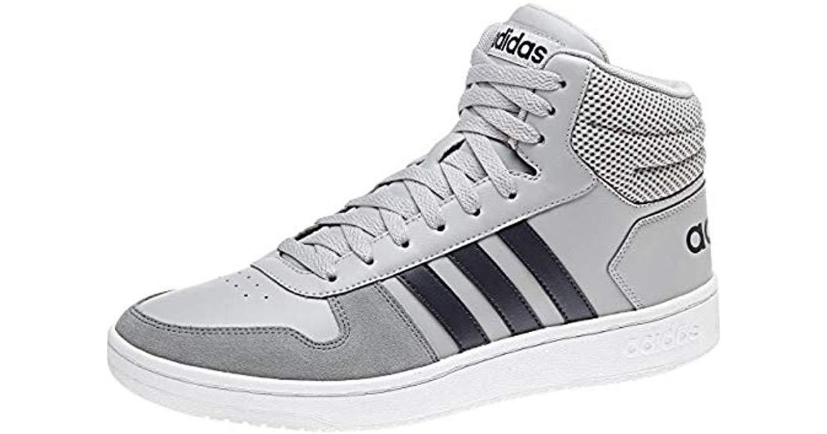 newest 43c5c a727f Adidas Hoops 2.0 Mid Basketball Shoes in Gray for Men - Lyst