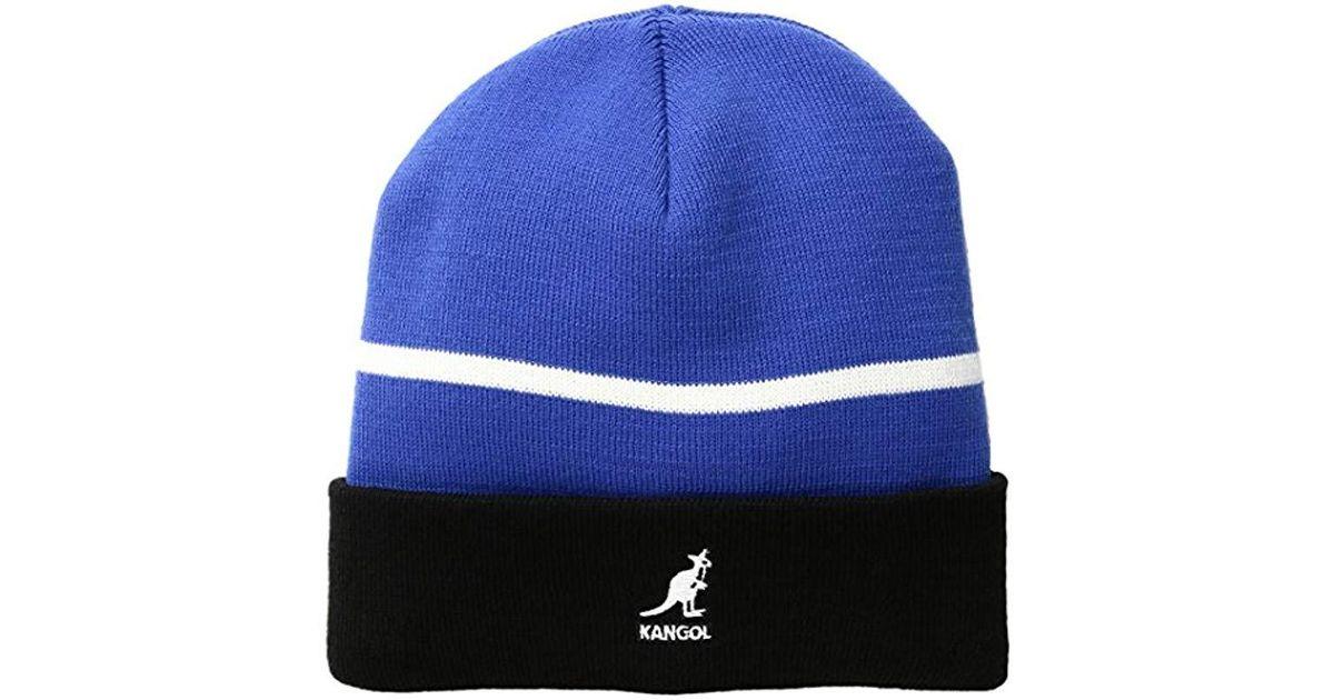 Lyst - Kangol Sport Stripe Beanie in Blue for Men 61b52be69cf2