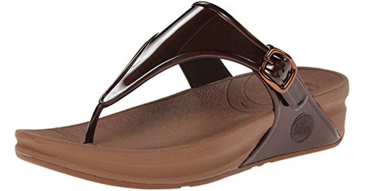 70b878f436b99d Fitflop Superjelly Rubber Flip Flops Jelly Sandal in Brown - Lyst