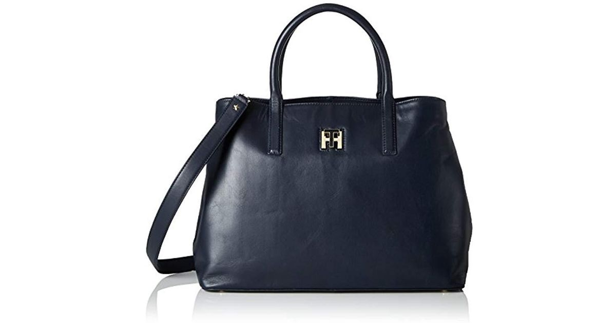 fa235f0a85 tommy-hilfiger-Blue-Tommy-Navy-Th-Twist-Leather-Tote-s-Shoulder-Bag -Blau-tommy-Navy-01x01x01-Cm-b-X-H-T.jpeg
