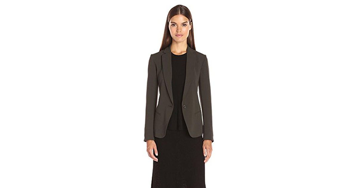 23fb99570574 Lyst - Theory Robiva Admiral Crepe Jacket in Black