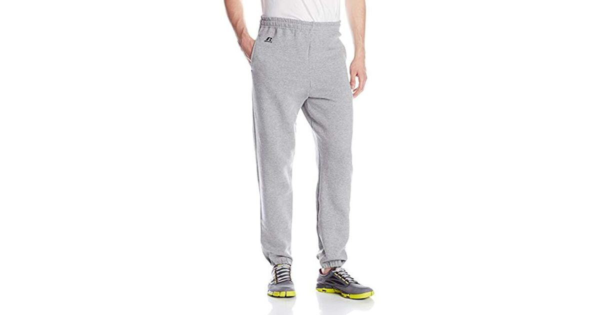 8dd69ee9ff995 Russell Athletic - Gray Dri-power Closed-bottom Sweatpants With Pockets for  Men - Lyst