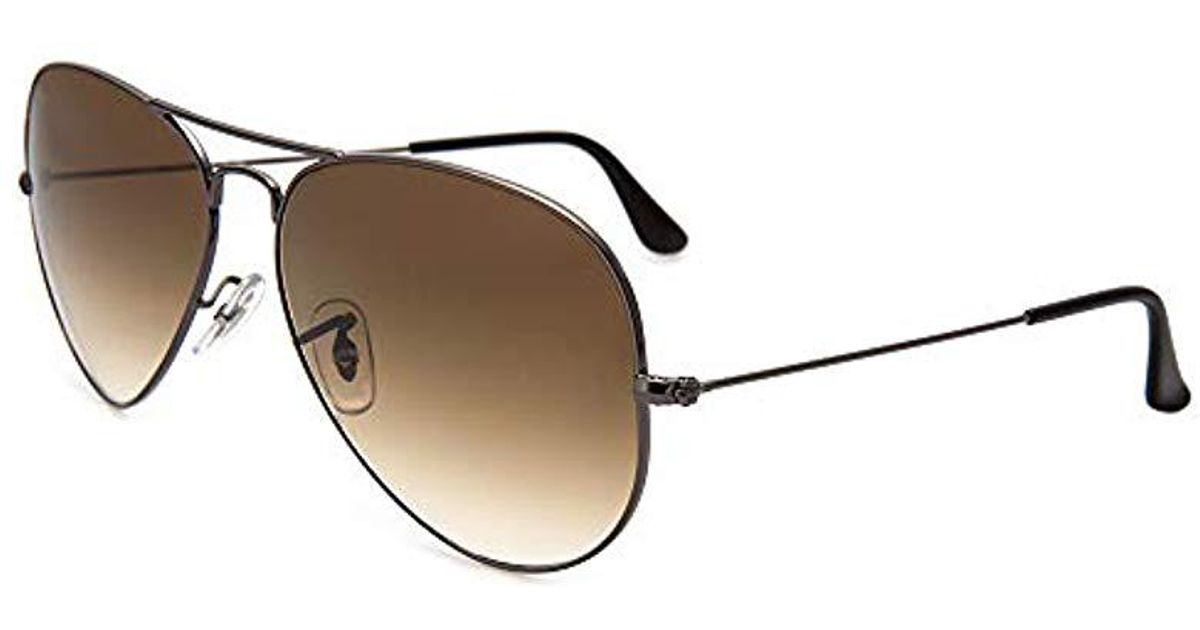 69ea3b108b67d Ray-Ban 3025 Aviator Large Metal Non-mirrored Non-polarized Sunglasses for  Men - Save 10% - Lyst