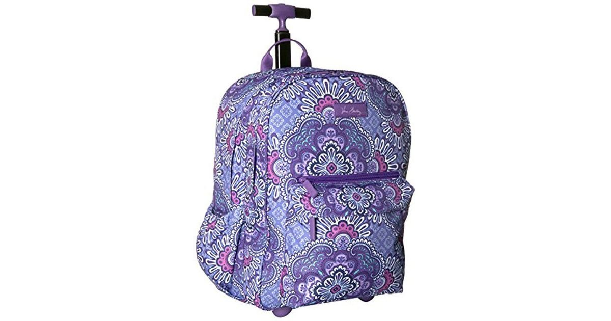 b8fc05774e1d Lyst - Vera Bradley Lighten Up Rolling Backpack in Purple
