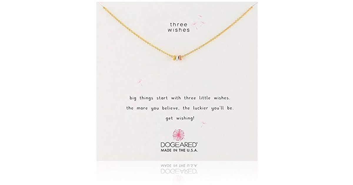 Lyst Dogeared S Three Wishes 3 Stardust Beads Necklace
