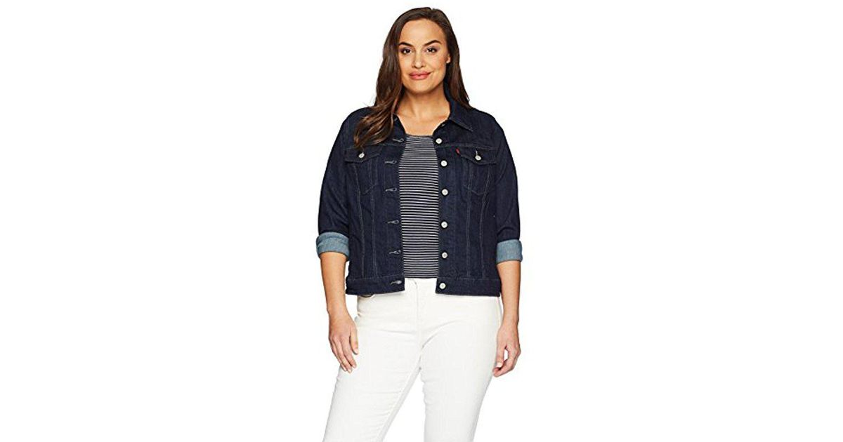 0d5882979bf72 Lyst - Levi s Plus-size Original Trucker Jackets in Blue - Save 7%