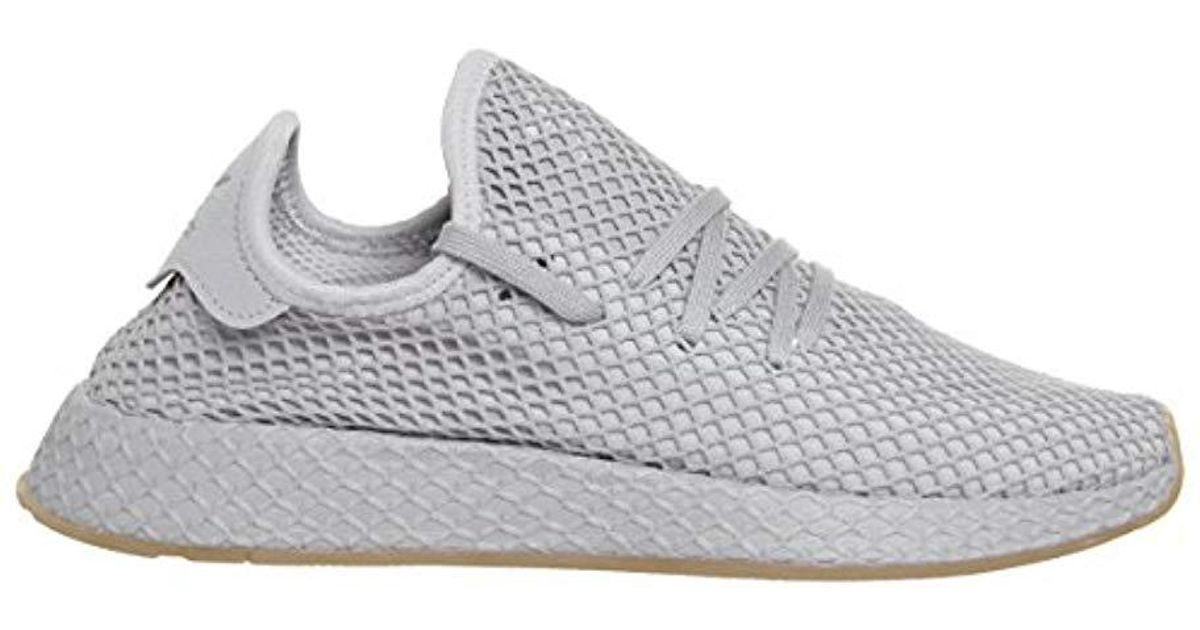 583d9a84e adidas  s Deerupt Runner Gymnastics Shoes in Gray for Men - Lyst