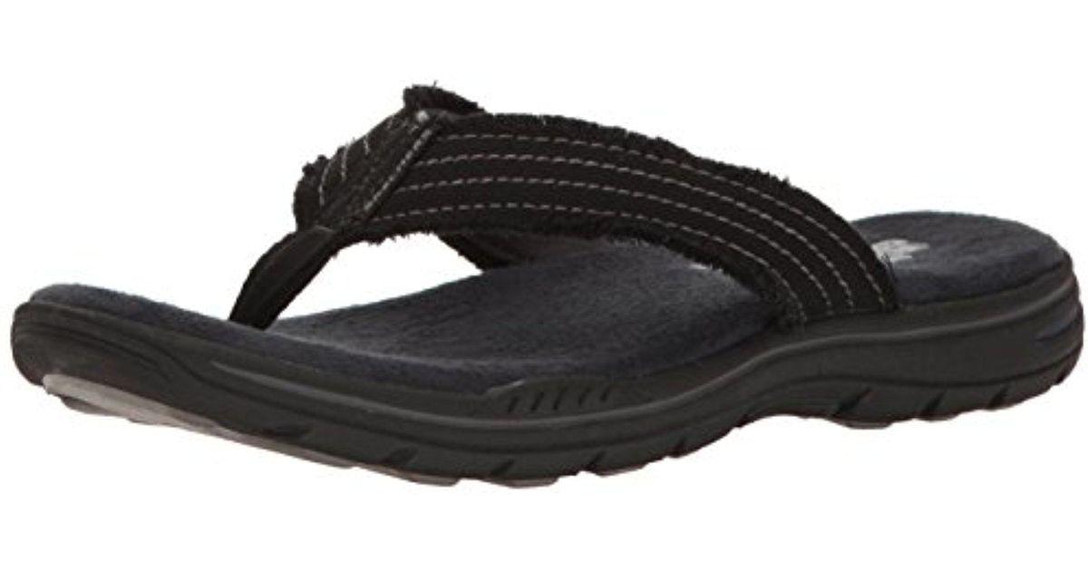 cc484f6fc174 Lyst - Skechers Evented Arven Flip Flop in Black for Men - Save 40%