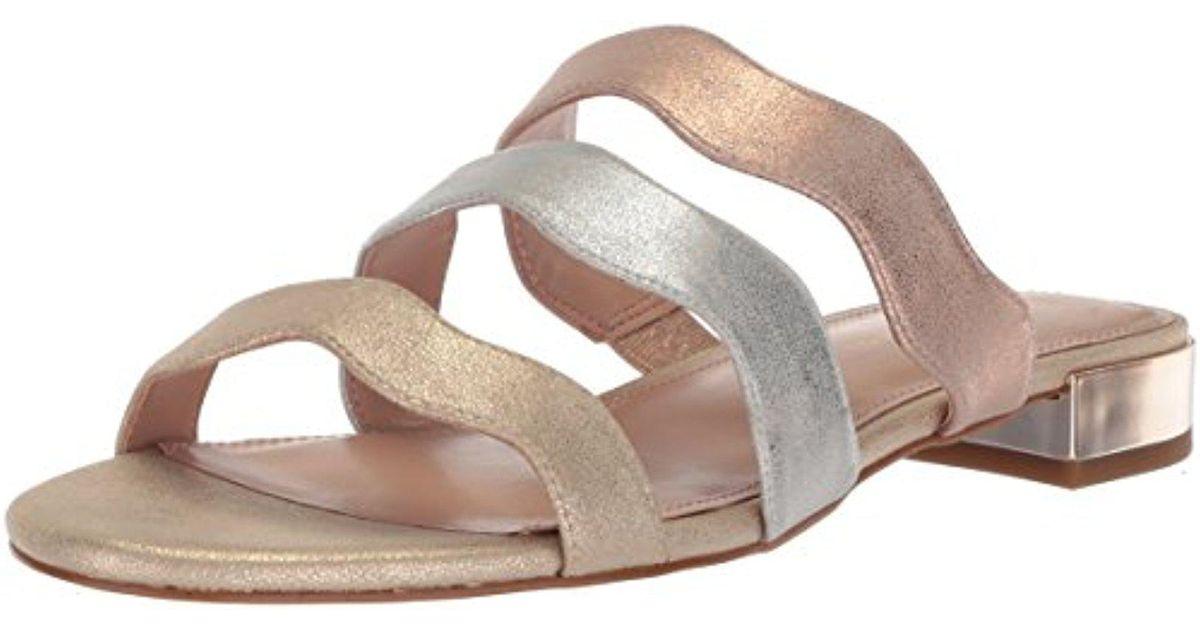 6840e99e1a16 Lyst - BCBGeneration Dania Flat Sandal in Metallic - Save 10%