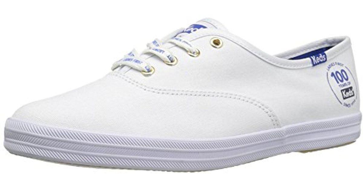 253a6e5e26e Lyst - Keds Champion Centennial Fashion Sneaker in White