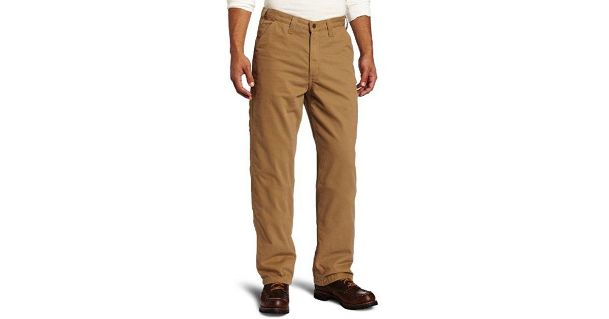 68d62e80e5b Lyst - Carhartt Washed Twill Dungaree Flannel Lined in Natural for Men