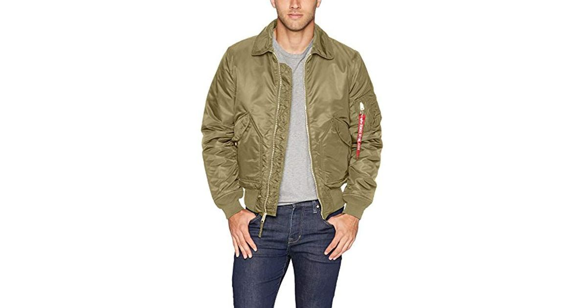 1392f7c3a65 Lyst - Alpha Industries Cwu 45 p Slim Fit Flight Jacket in Green for Men