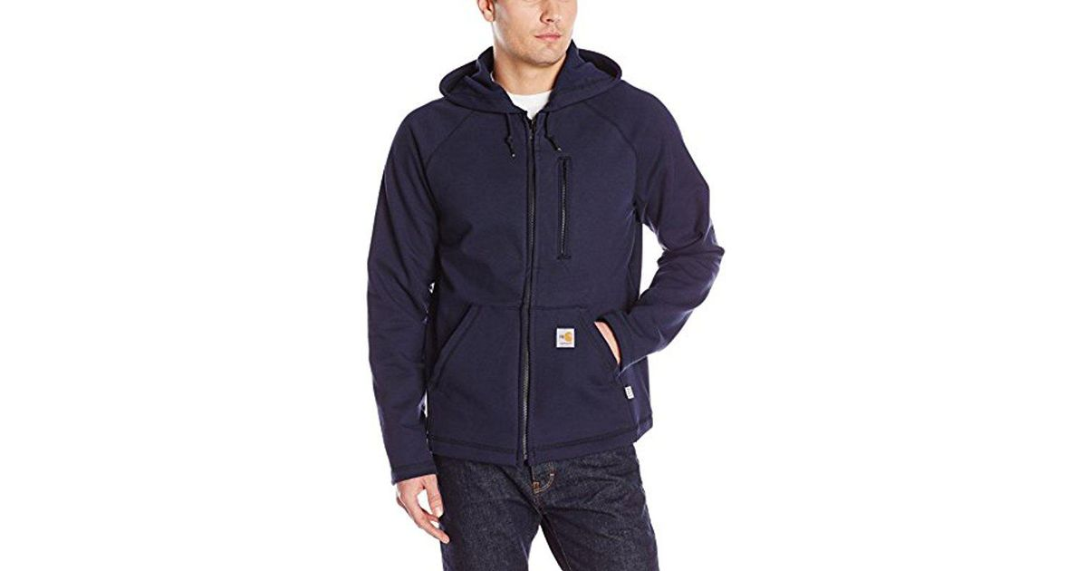 6e422e3b08e2 Lyst - Carhartt Flame Resistant Force Rugged Flex Hooded Fleece in Blue for  Men - Save 1%
