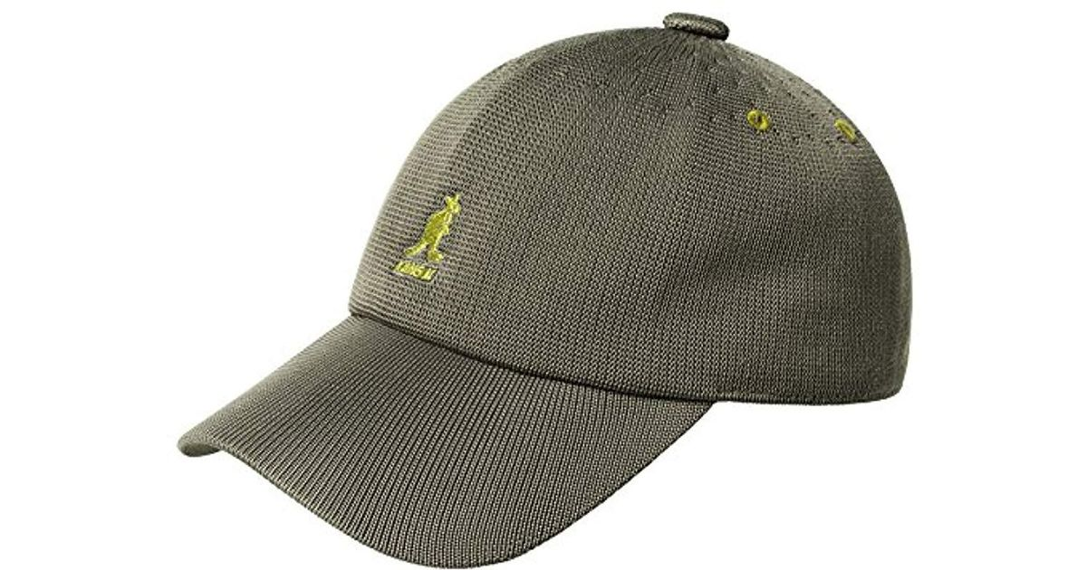 17832c7b21c229 Kangol Tropic Adjustable Spacecap Baseball Cap in Green for Men - Lyst