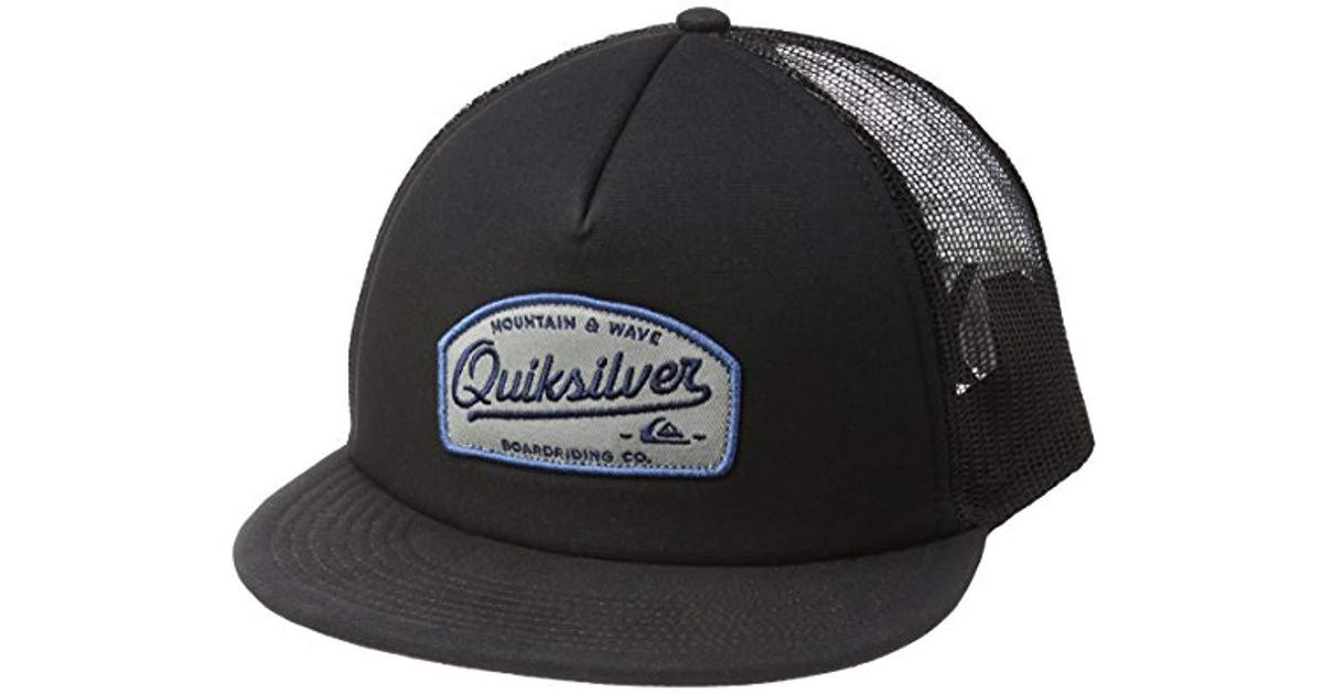 online store d1c62 b04a5 Lyst - Quiksilver Past Checker Trucker Hat in Black for Men - Save  46.15384615384615%
