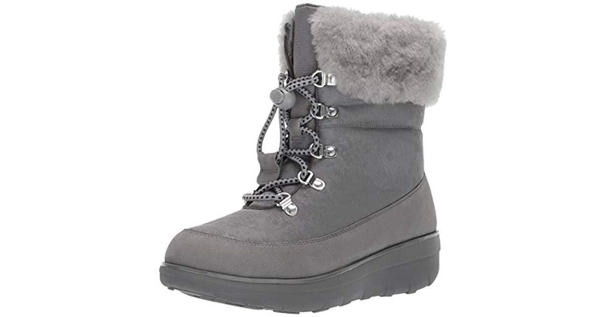da20fe8e0 Fitflop Holly Shearling Ankle Boots in Gray - Lyst