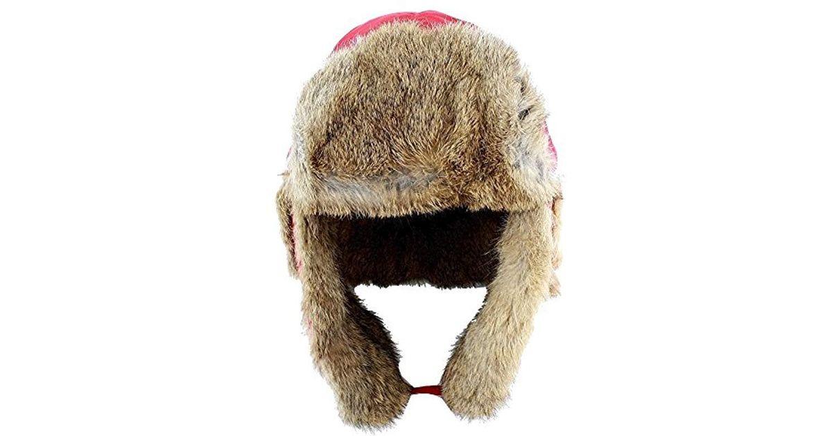 Lyst - Woolrich Supplex Wool Aviator Hat in Red for Men 71172b4d2fd