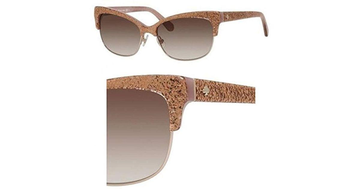 67890908f3 Lyst - Kate Spade Shira Cat-eye Sunglasses in Pink - Save 15%