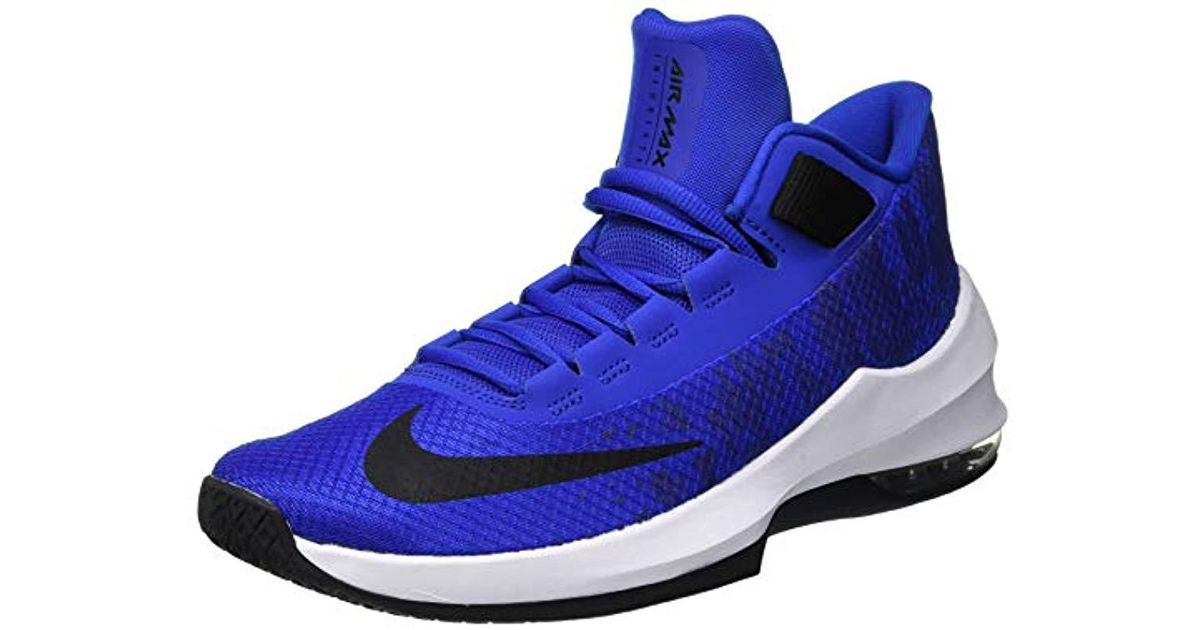 b8fff20823 Nike Air Max Infuriate 2 Mid Basketball Shoes in Blue for Men - Lyst