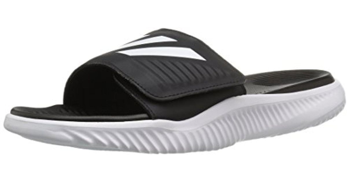 a5acea146a5a Lyst - adidas Alphabounce Bb Athletic Slide Sandals in White for Men
