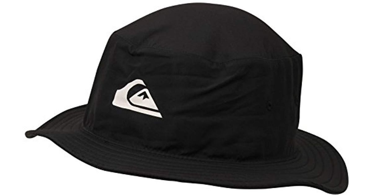 9dce5bd6395 Lyst - Quiksilver Bushmaster Surf Sun Protection Bucket Hat in Black for Men