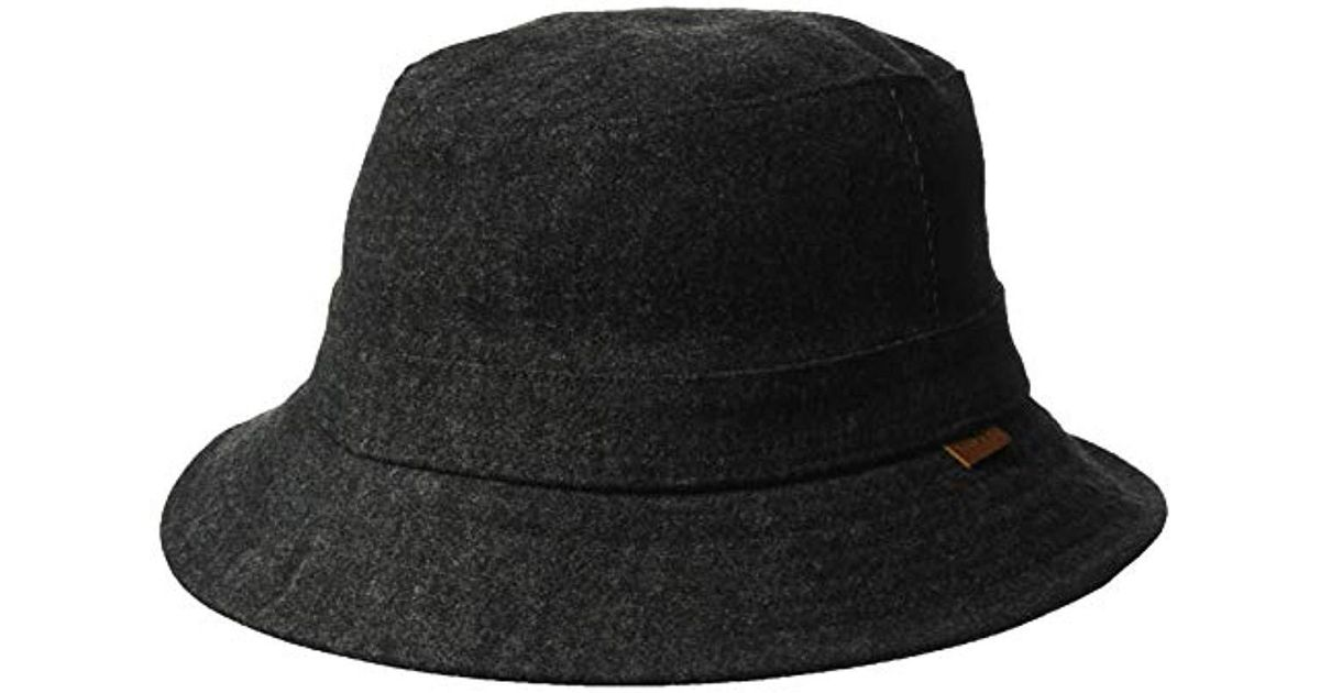 d3a11546689 Lyst - Kangol Quilted Denim Hunter Bucket Hat in Black for Men - Save 15%