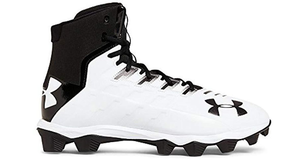 5b84d933f50b Lyst - Under Armour Renegade Rm Wide Football Shoe Black/white 2e Us in  Black for Men