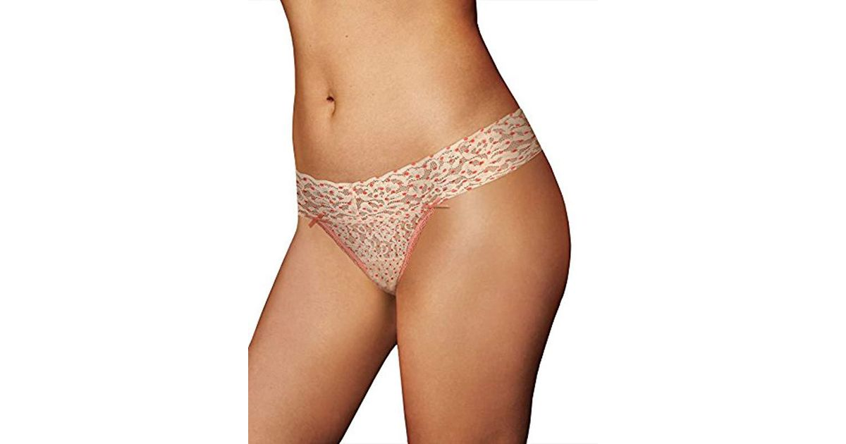 d02343780 Lyst - Maidenform All Lace Thong Panty in Orange