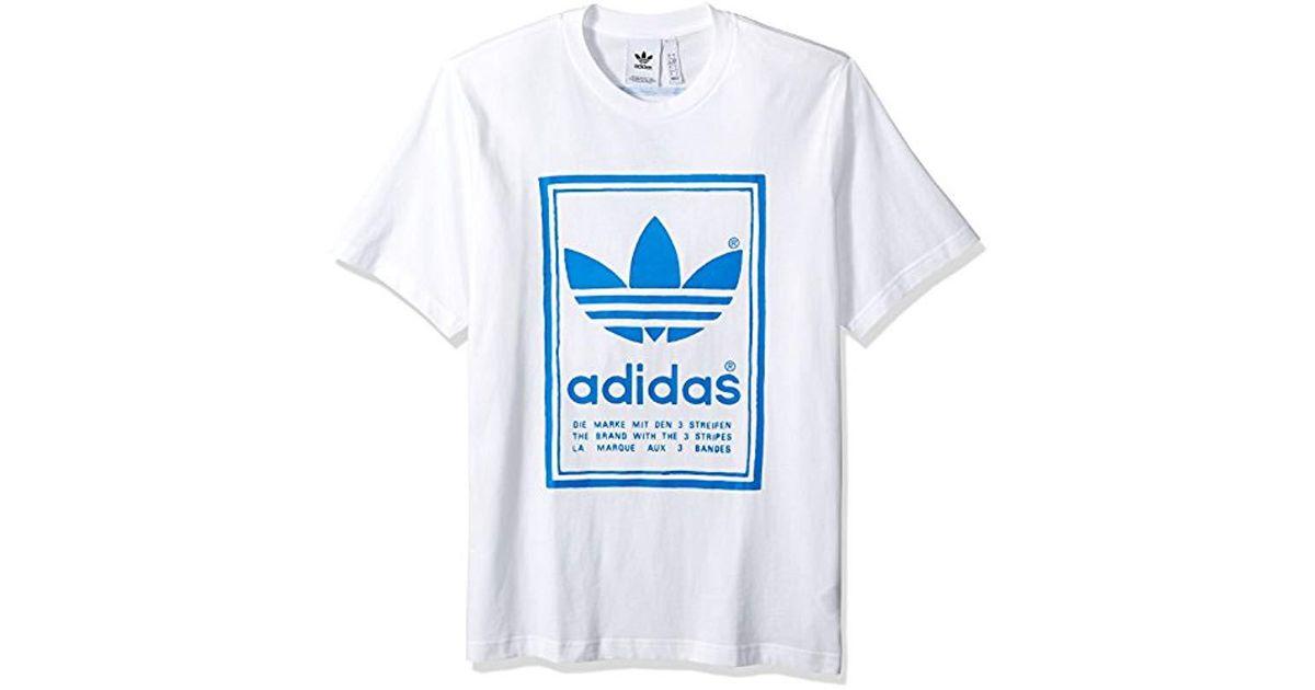 Lyst Adidas Originals Vintage Tee In White For Men Save 6 25