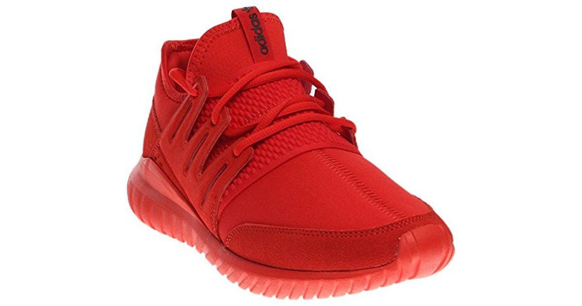 online store c81f8 a183e Lyst - Adidas Originals Tubular Radial Fashion Sneaker in Red for Men