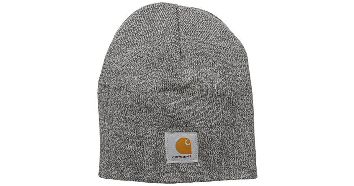 4f6a9b793ce77 Lyst - Carhartt Acrylic Knit Hat in Gray for Men