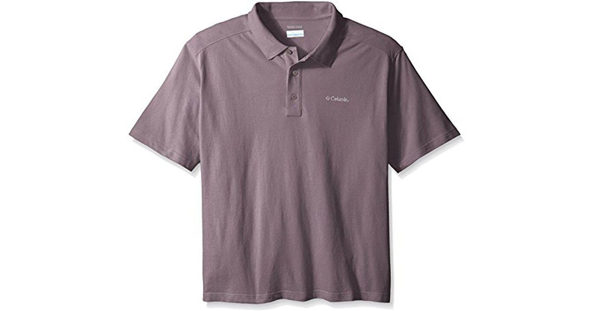 55178ab6818 Lyst - Columbia Big And Tall Elm Creek Big   Tall Polo in Purple for Men