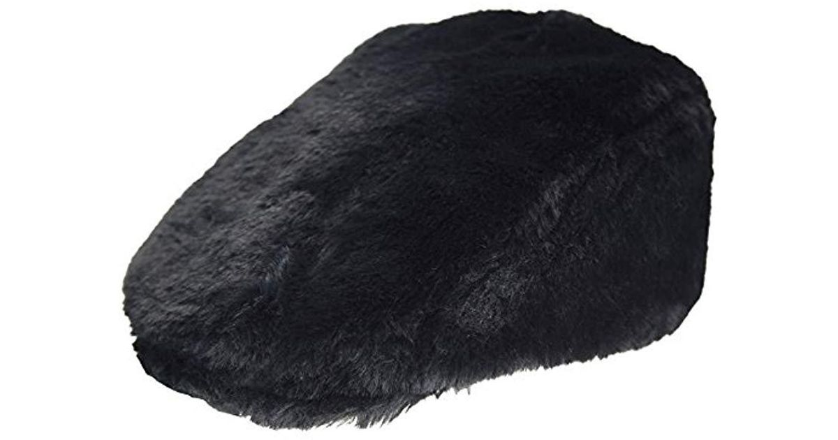f8665b34 Lyst - Kangol Faux Fur Cap in Black for Men