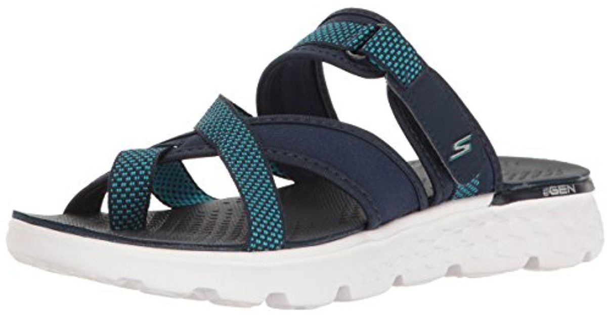 e15b5650434 Lyst - Skechers Performance On The Go 400 Discover Flip Flop in Blue
