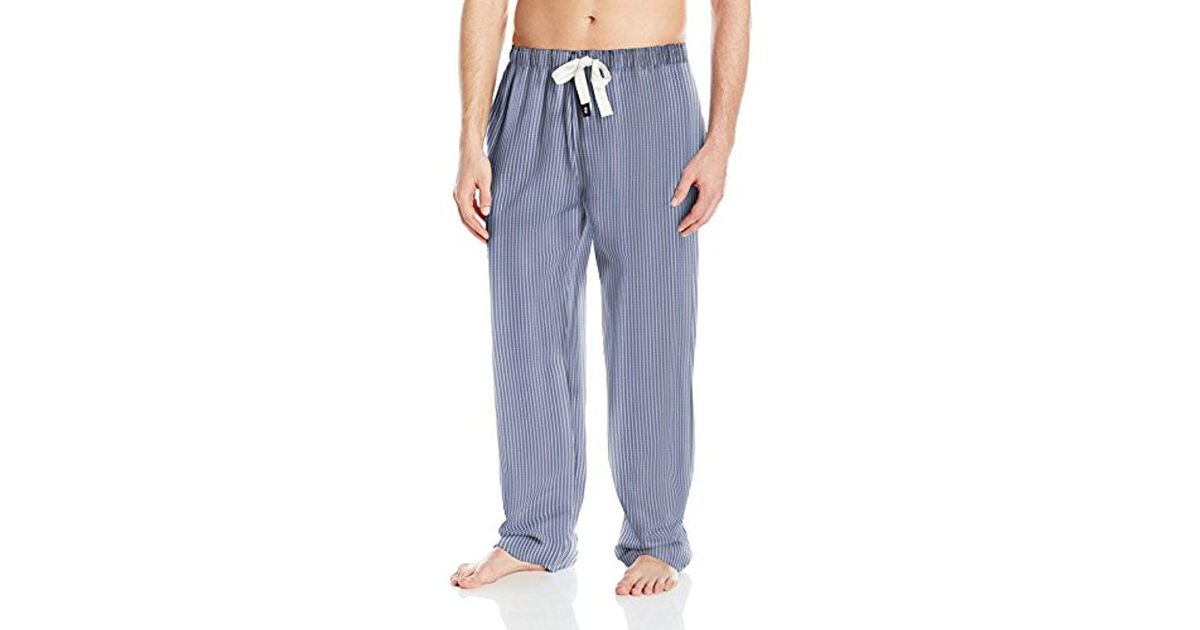 78a37ccc02e Lyst - Izod Cotton Textured Yarn-dye Woven Sleep Pant in Blue for Men -  Save 68%