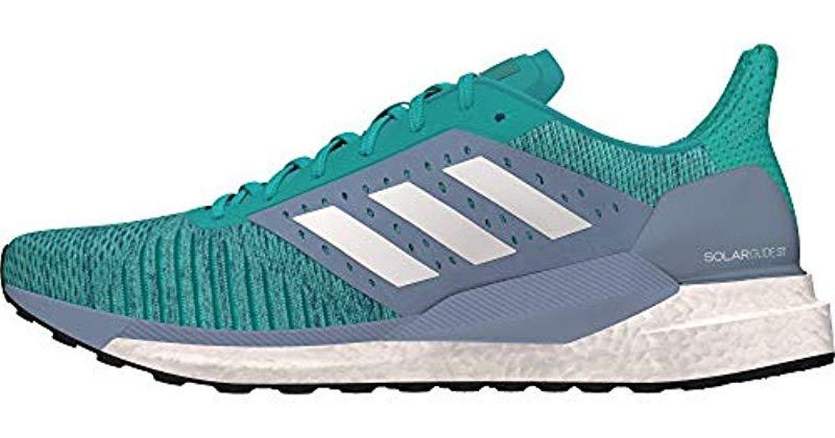 49c5f83fb3de6 adidas  s Solar Glide St Training Shoes Green in Blue - Lyst