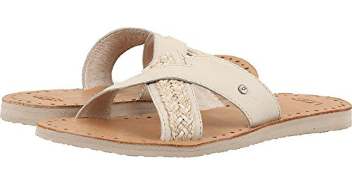 456e610369b Ugg - Natural Lexia Flat Sandal - Lyst