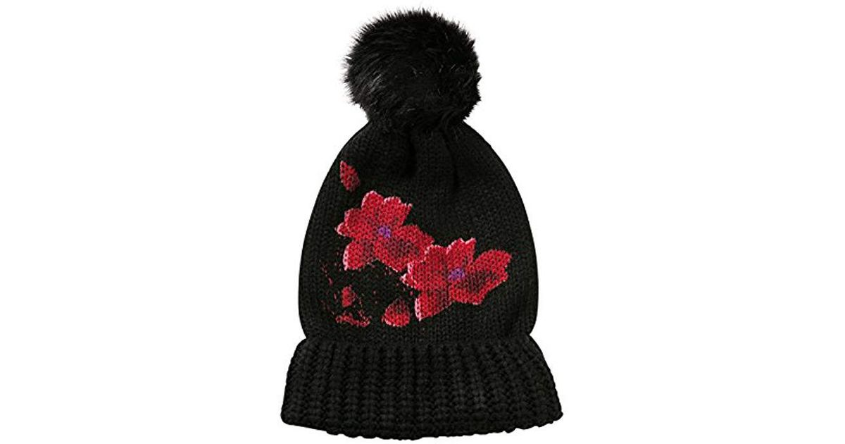Desigual Red Flowers Hat 17wahk03 in Black for Men - Save 53% - Lyst b4061d22e84