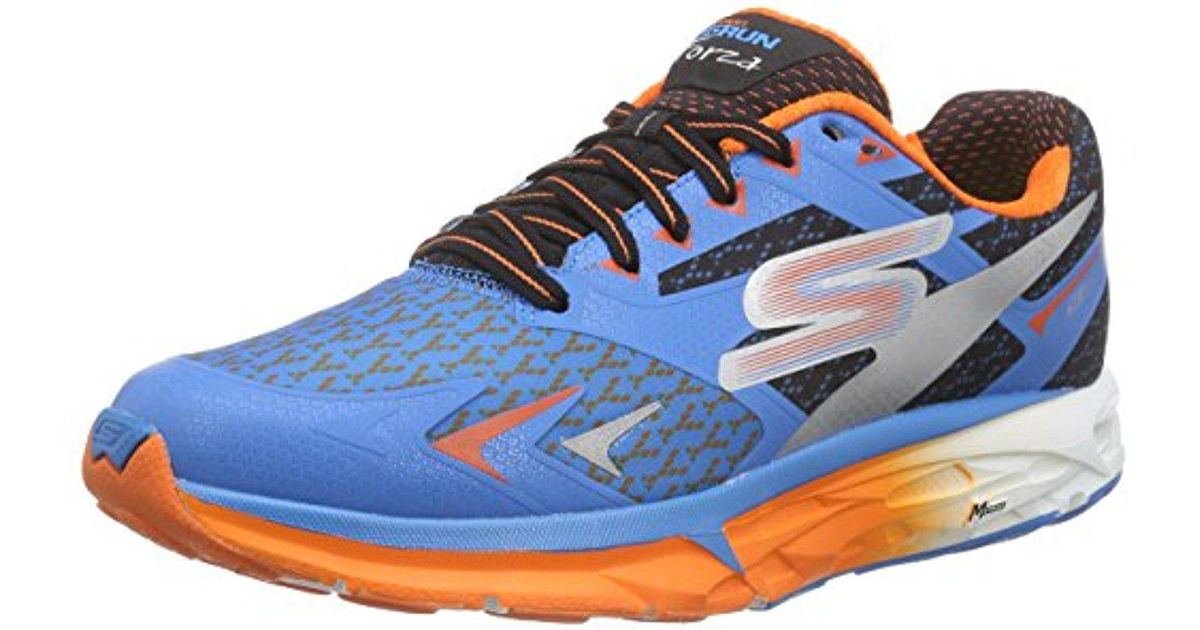 064d7adcce78 Lyst - Skechers Performance Go Run Forza Boston 2016 Running Shoe in Blue  for Men