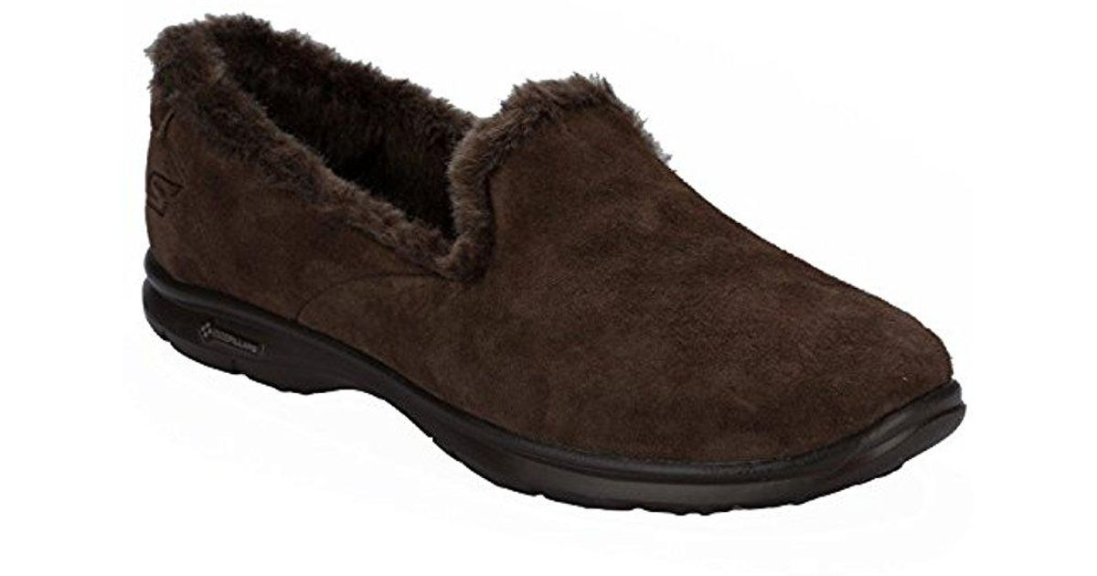 e85eb7a367121 Skechers Performance Go Step Velvety Suede Walking Shoe in Brown - Lyst