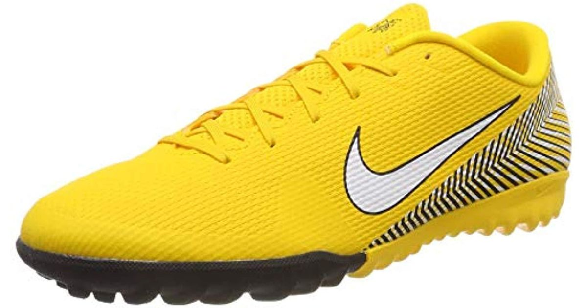 timeless design e4fee 9243b Nike Unisex Adults  Vapor 12 Academy Njr Tf Fitness Shoes in Yellow - Lyst