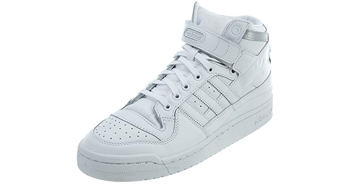 low priced e70cd 1651a Lyst - adidas Originals Forum Mid Refined Fashion Sneaker in White for Men